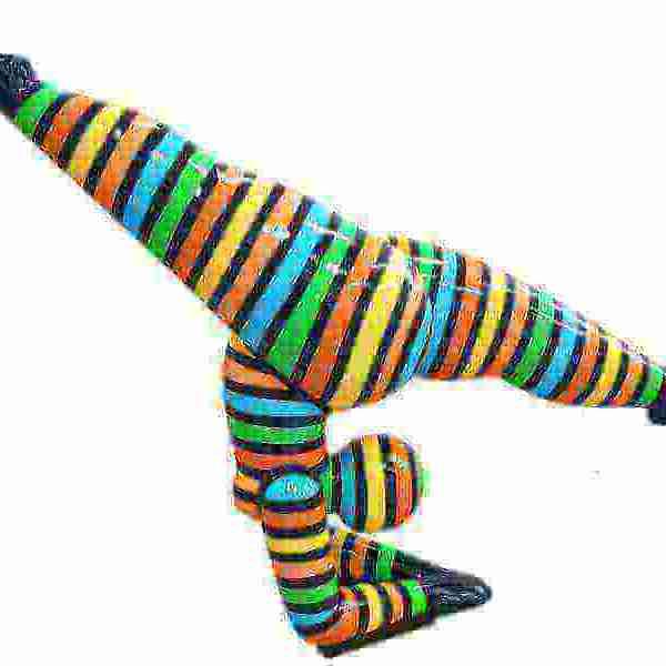 Deko Kunst Skulptur Turnerin Acrobatic gestreift