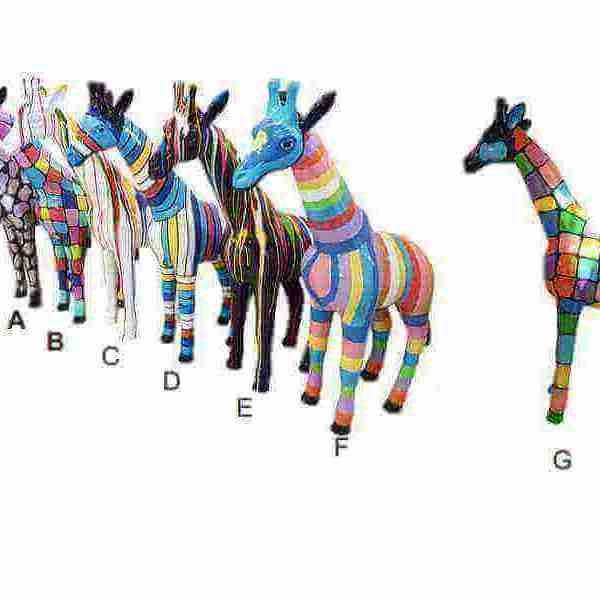 Kunst Giraffen verschiede Muster