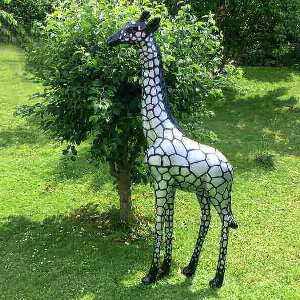Schwarz weisse Kunst Giraffe