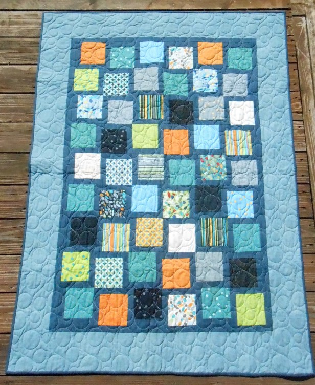 Charming You (2015). Pieced by Tierney Davis Hogan, quilted by Betty Anne Guadalupe