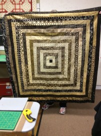 """""""Right on Target"""" quilt made by my Quilt Sister Barb at the Retreat"""