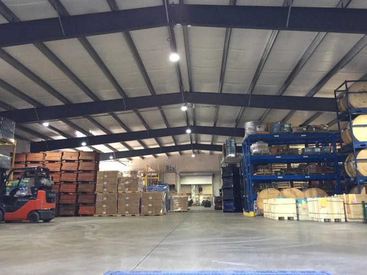 e warehouse floor view