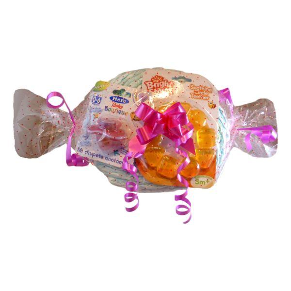 tarta de pañales caramelo
