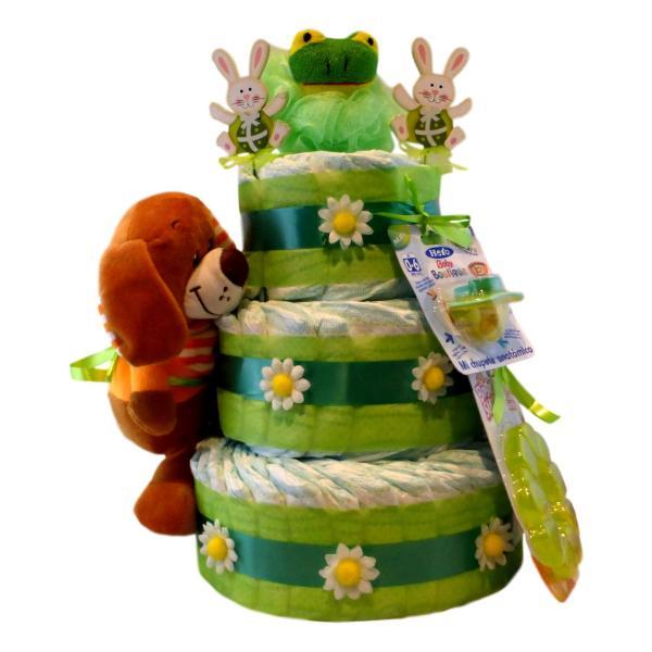 tarta de pañales verde esperanza