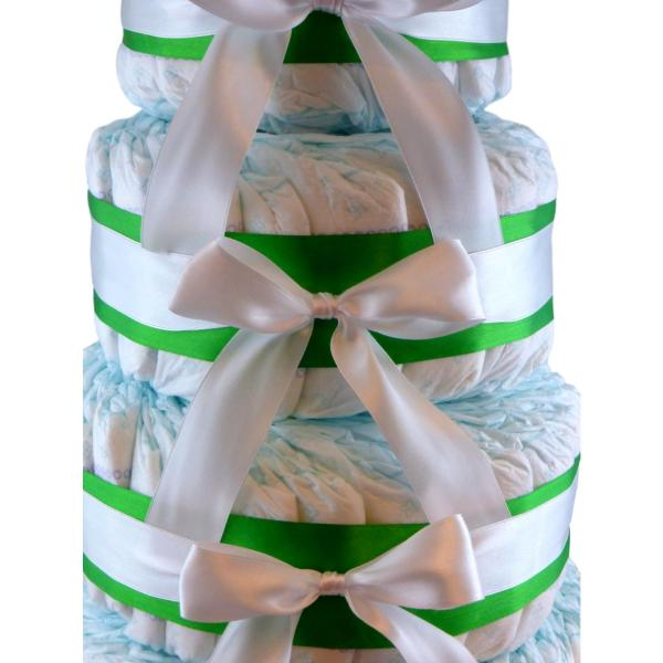 montaña de pañales verde / blanco