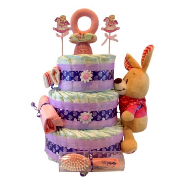 tarta de pañales frambuesa