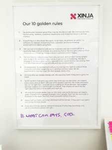 Xinja 10 golden rules