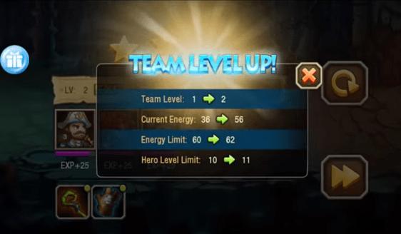 AllStar Heroes - level