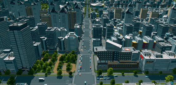 Cities Skylines - rascacielos