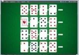 juego de cartas solitario