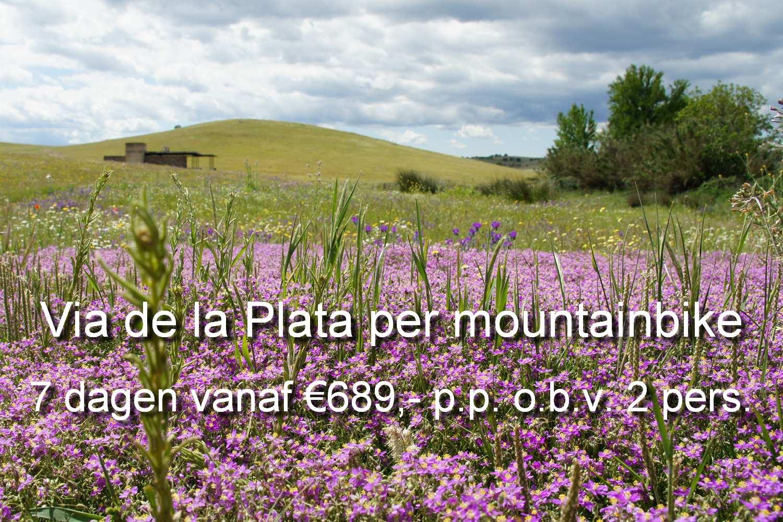 Je fitst met een e-mountainbike over de Via de la Plata ofwel Zilverroute in Extremadura