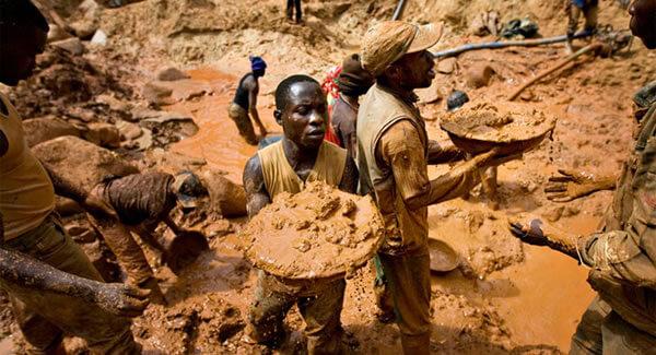 mina de diamantes en angola