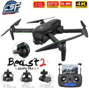 DRONE NWE 2021 ZANGÃO SG906/SG906 Pro 2  4K HD 3 EIXOS 5G WIFI 1,2km