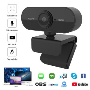 WEB CAM COM MICROFONE FULL HD 1080P