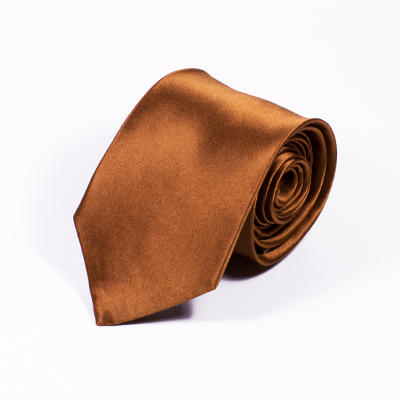 bruine stropdas zijde