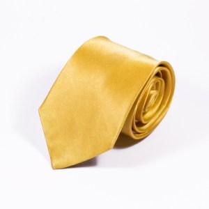 Gele stropdas zijde