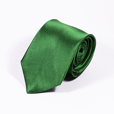 Groene stropdas zijde