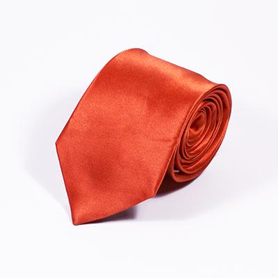Oranje stropdas zijde