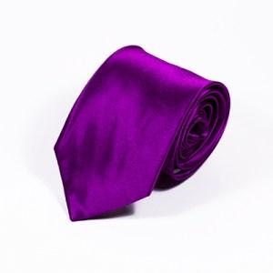 Paarse stropdas zijde