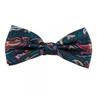 Green, Navy, Gold & Red Paisley Men's Silk Bow Tie from ...