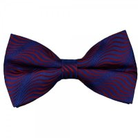 Red & Blue Swirl Patterned Silk Bow Tie from Ties Planet UK