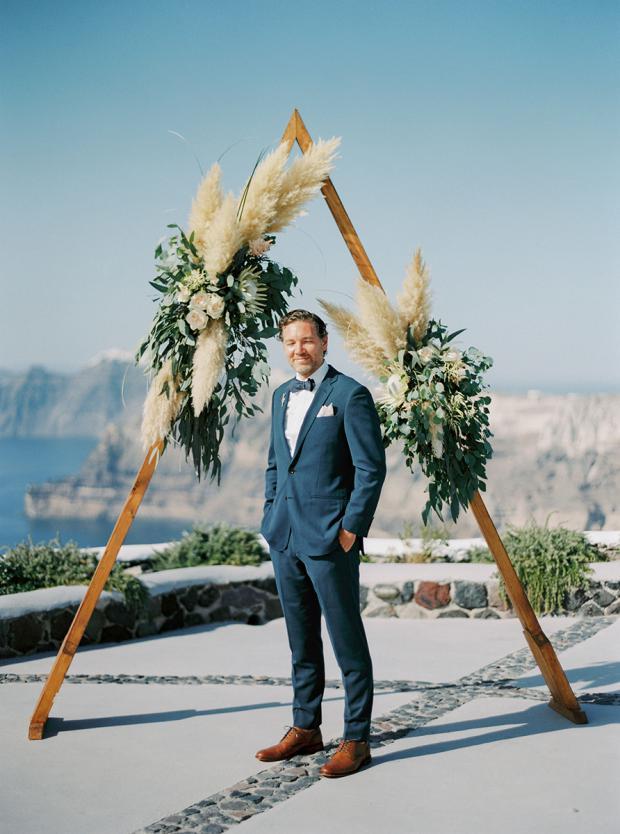 BohemianGrecian wedding in Santorini Greece Tie the