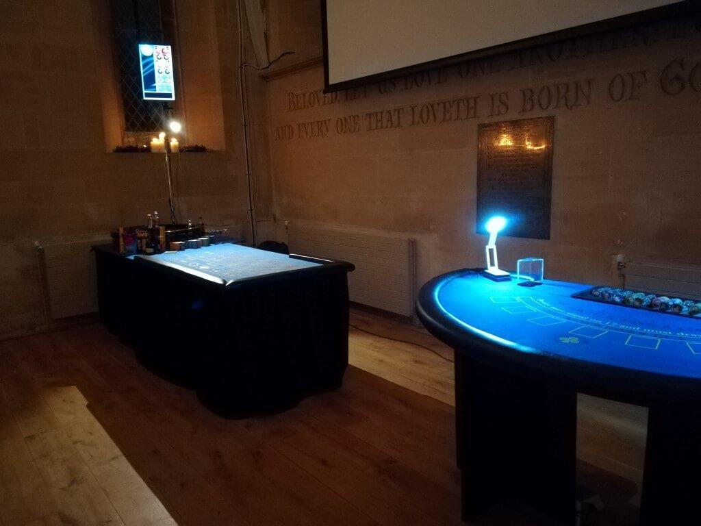 The wonderful Fun Casino Tables on display.