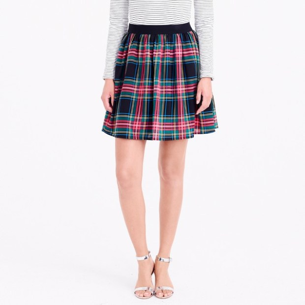 Find the perfect holiday pieces for under $50. Velvet pants, red shirts, tartan and plaid skirts are perfect for any holiday event.
