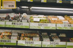 The vast selection of food ready to eat at Marukai.