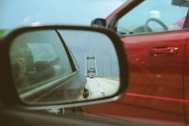 Finally leaving the bridge behind us.