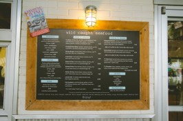 The menu was also displayed outside. I liked the color scheme & typography of the menu.