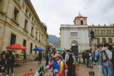 Walking around the plaza