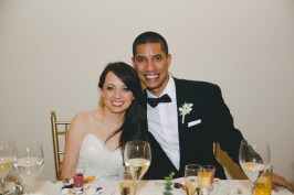 These newlyweds actually got to eat their delicious wedding food. Besides the ceviche, they missed out on the ceviche.