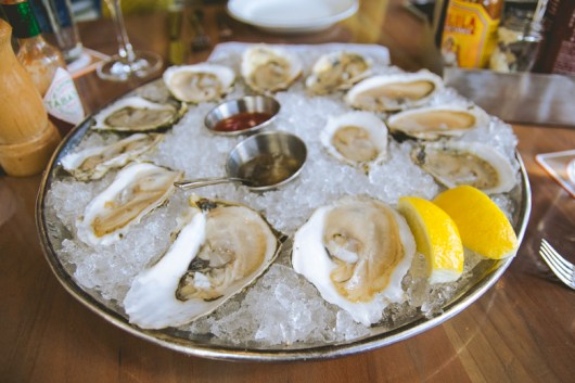 We had 6 different oysters all from NE.
