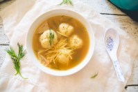 TiffanyBee.com | Vegetarian Matzo Ball Soup Recipe