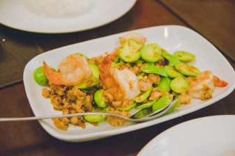 Stir fried shrimp & veggies