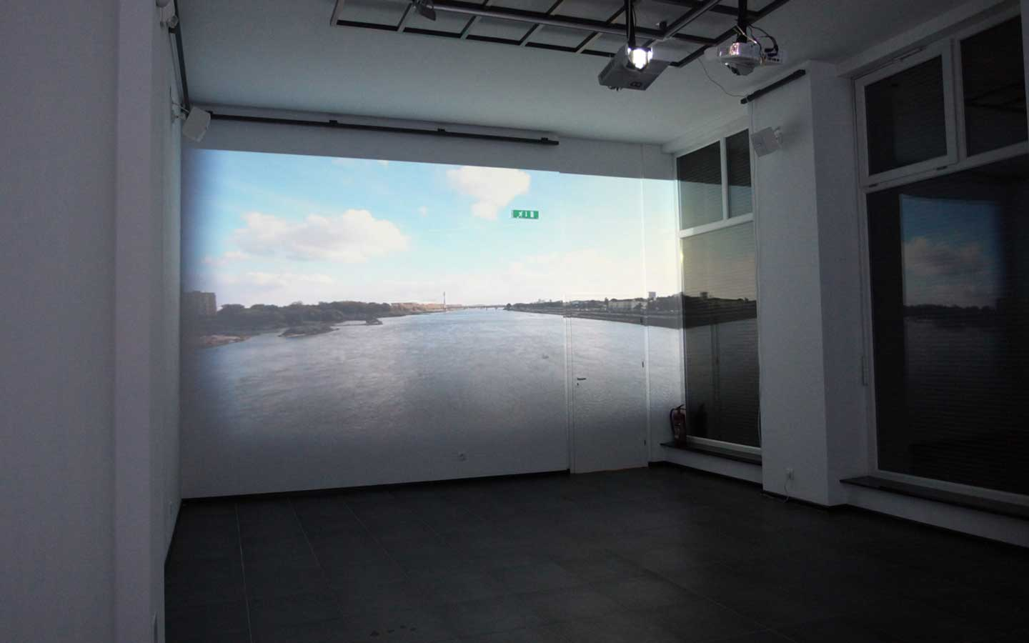 site specific video projection