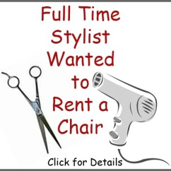 Rent A Chair Correct Posture In Tiffany Claire More Salon Services Full Time Stylist Wanted