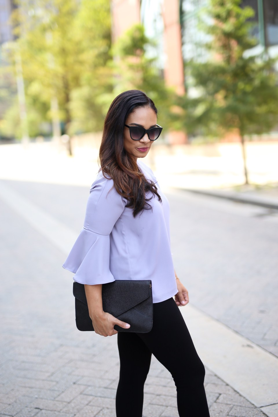 Why You Need This Contemporary Bell Sleeve Top-Tiffany D. Brown
