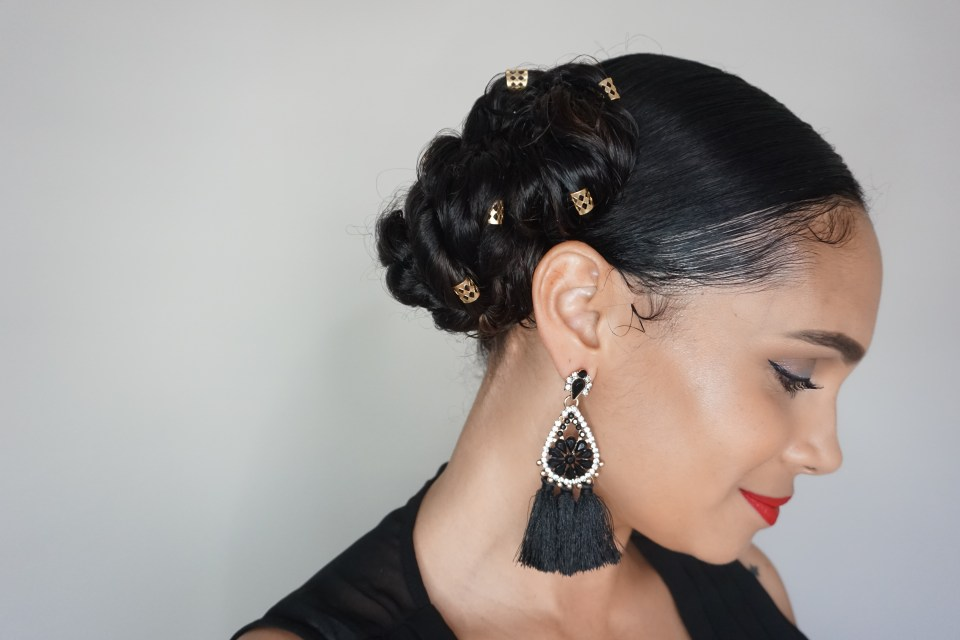 This Super Easy Hairstyle Is Perfect For Holiday Parties-Tiffany D. Brown