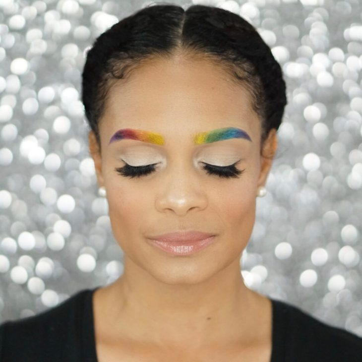 How To Create Rainbow Eyebrows With This Easy Tutorial-Tiffany D. Brown