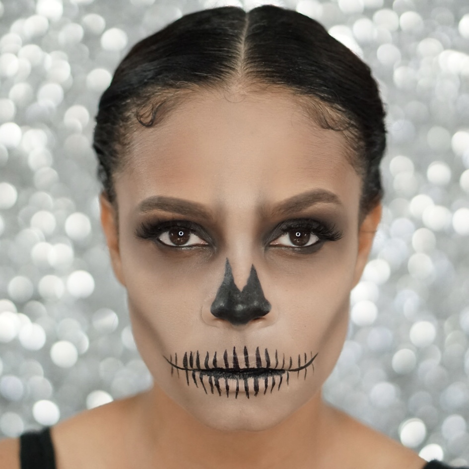 Last Minute Easy Skeleton Makeup For Halloween-Tiffany Nicole Brown