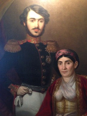Princess Ljubica of Serbia and her son. This portrait hangs in Princess Ljubica's residence, one of a few interesting standard tourist sights in Belgrade.