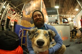 Newer Ambassador Shane Williams and his puppy at OR Show.
