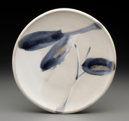 plate with brushwork