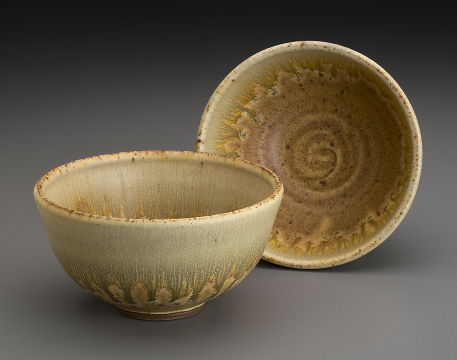 yellow and ash bowls