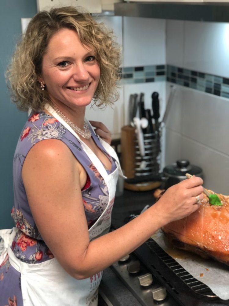 Tiffany Johnson Christmas cooking