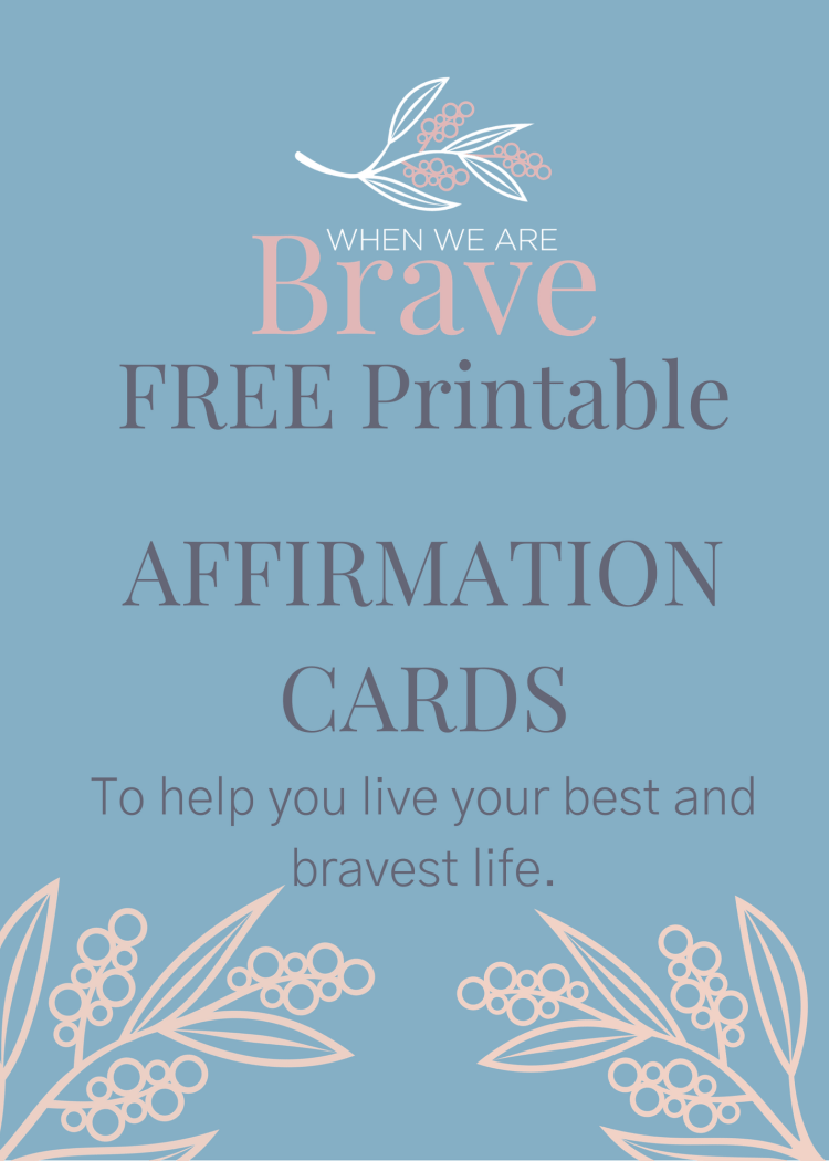 Free Printable Affirmation Cards by Tiffany Johnson