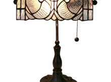 Amora Lighting Tiffany Style Am250tl10 Floral Banker Tiffany Style