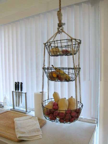 hanging kitchen basket DIY: Hanging Produce Baskets | tiffanylanehandmade